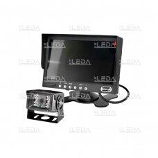 Vaizdo stebėjimo sistema (kamera, 7 colių monitorius, 2 kanalai, 20 m laidas)